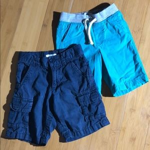 lot of 2 pairs Old Navy shorts navy teal 4T
